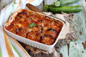 Teglia di parmigiana di zucchine