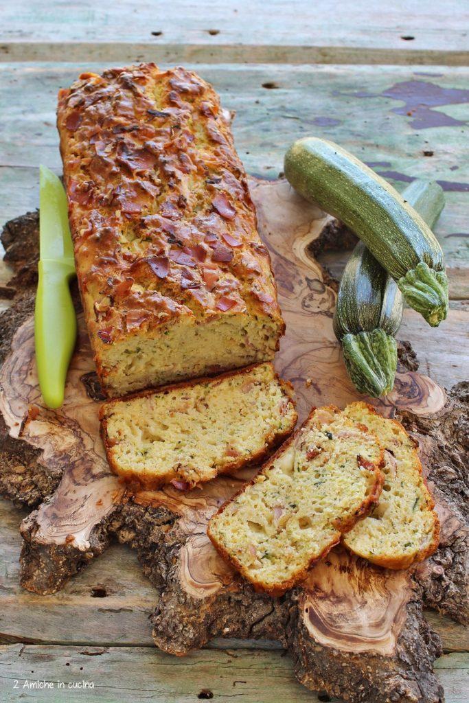 Plumcake salato con zucchine, speck, formaggio asiago e ricotta