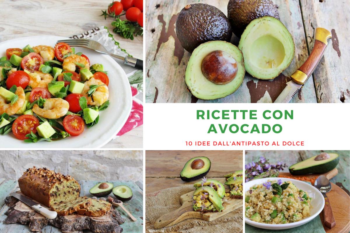 raccolta di ricette con avocado