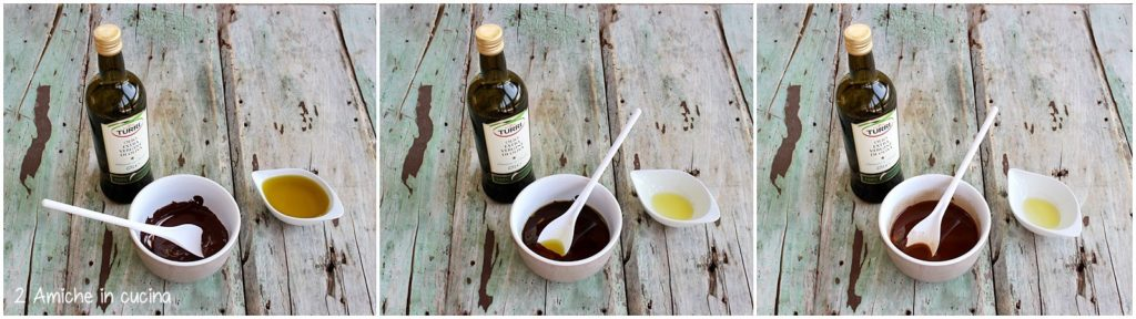 Cioccolato fondente e olio extra vergine di oliva