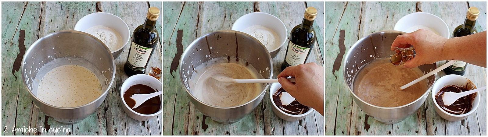 Passo passo per preparare il plumcake all'olio extra vergine di oliva e cioccolato