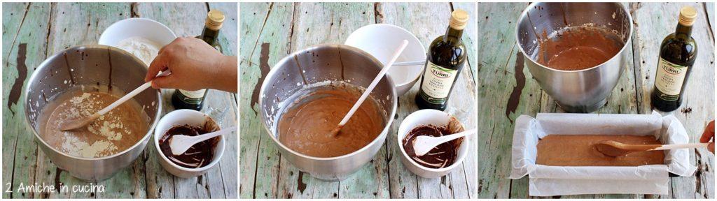 Preparazione del plumcake all'olio extra vergine di oliva Turri