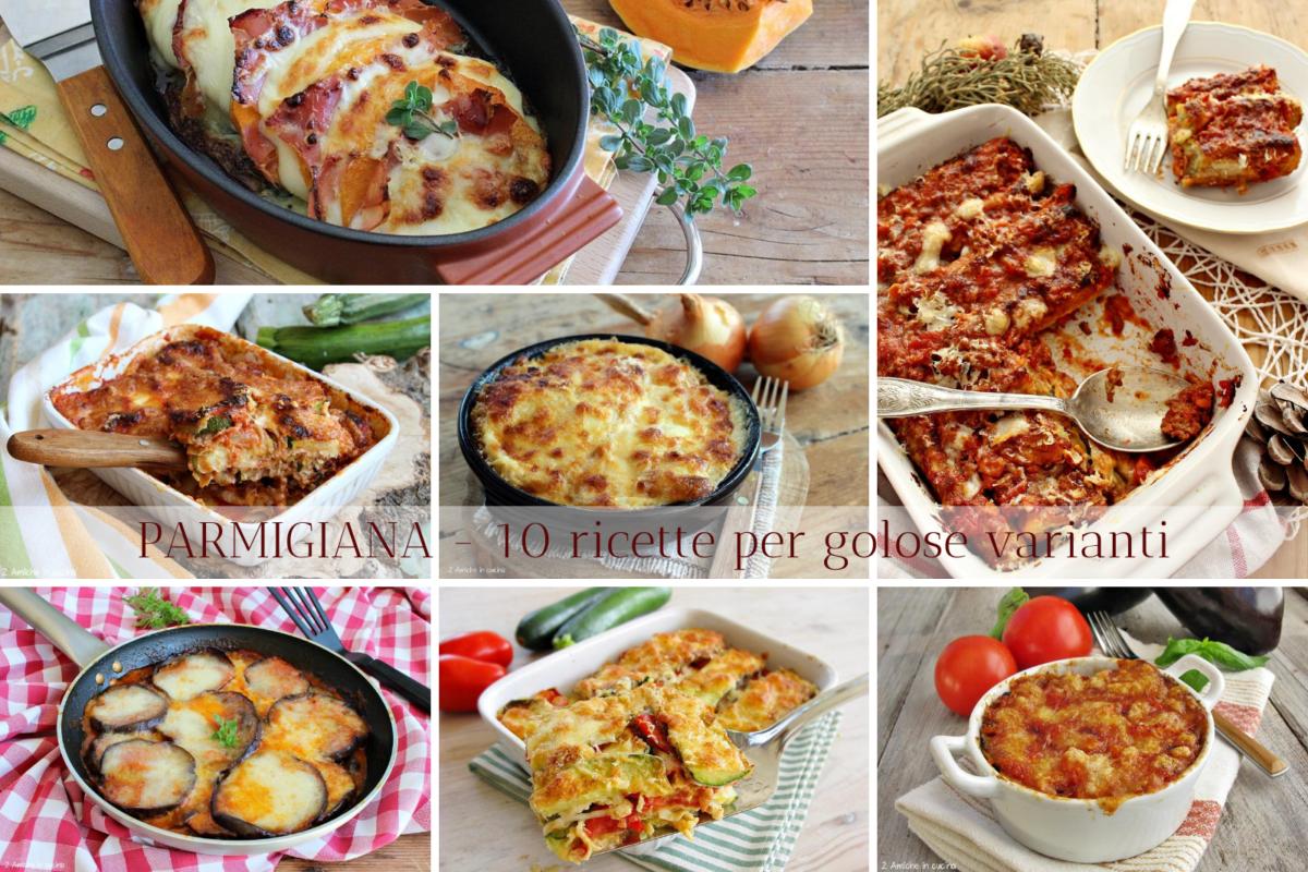 raccolta di ricette per preparare la parmigiana