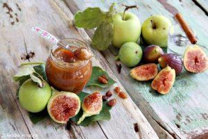 Confettura di fichi e mele con uvetta al rum