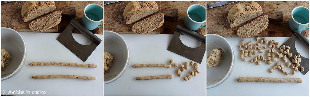 Preparazione degli gnoccchi di pan ner