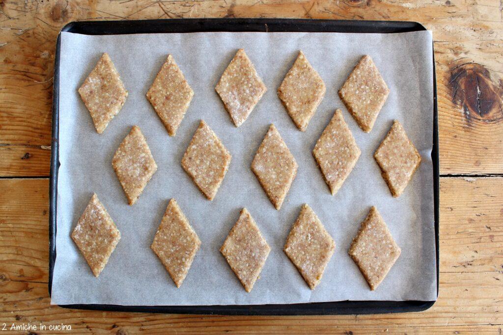 Losanghe di biscotti alle mandorle, mosto e miele