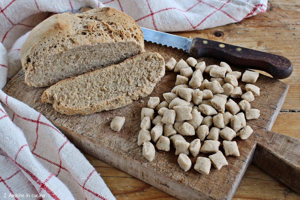 Gnocchetti di pane di segale e farina, senza uova