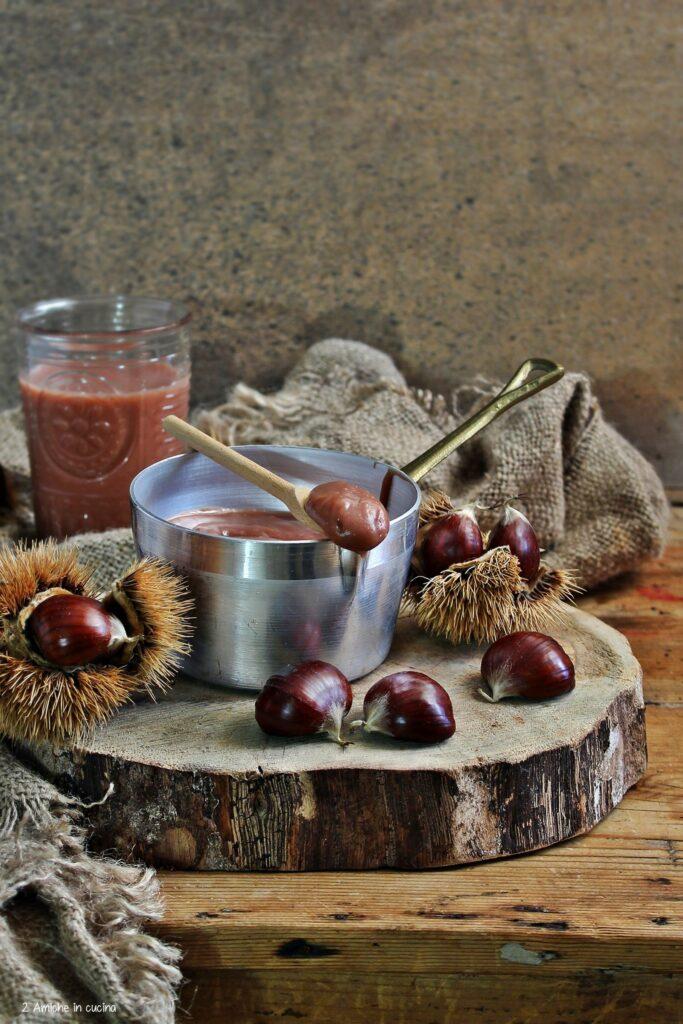 Crema alle castagne e bevanda alla castagna, vegan, senza glutine e senza lattosio