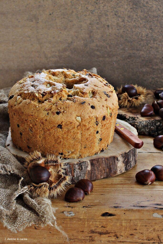 Chiffon cake con bevanda alle castagne