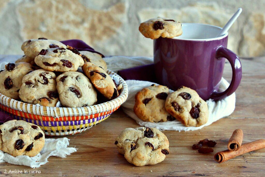 Morbidi biscotti africani con uvetta e patate dolci