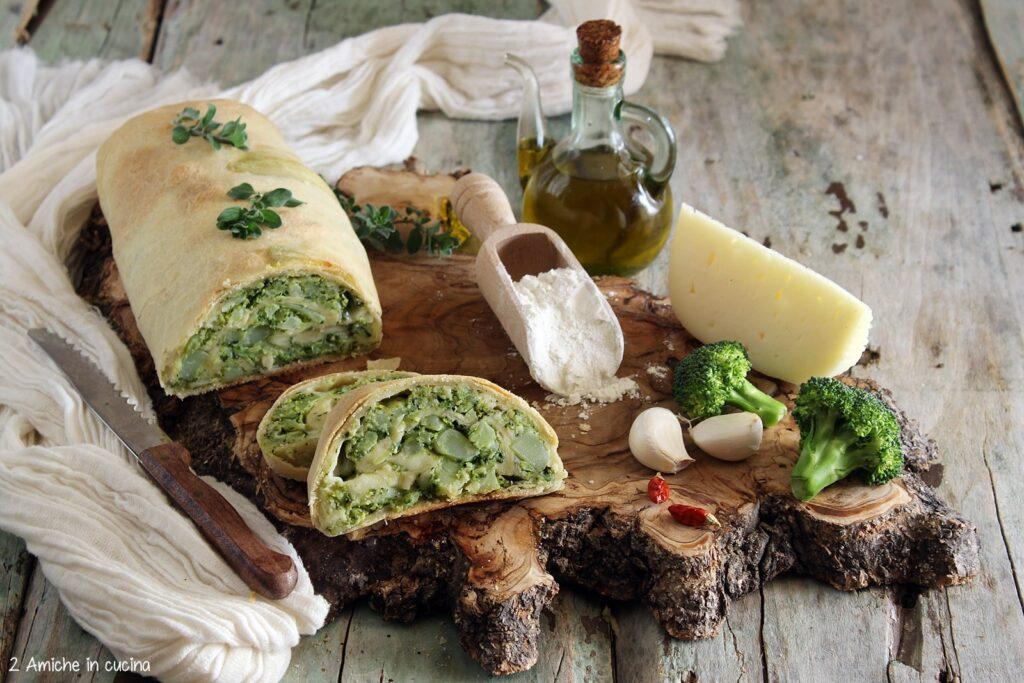 Strudel salato alle verdure e formaggi misti