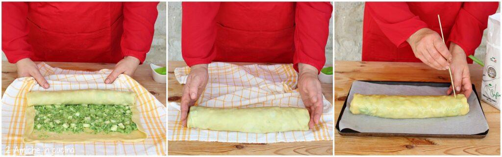 Arrotolare uno strudel salato con facilità