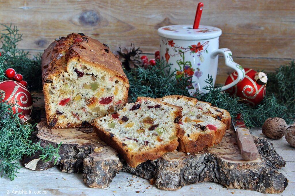 Plumcake con frutta secca e canditi misti