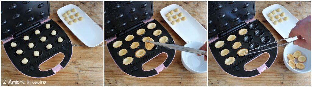 Piastra elettrica per la cottura delle noci dolci russe