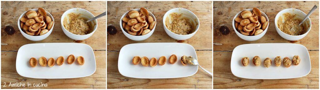 Farcitura degli oreshki, i biscotti russi di natale