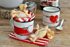 Caramelle di pasta fritte ripiene di Nutella