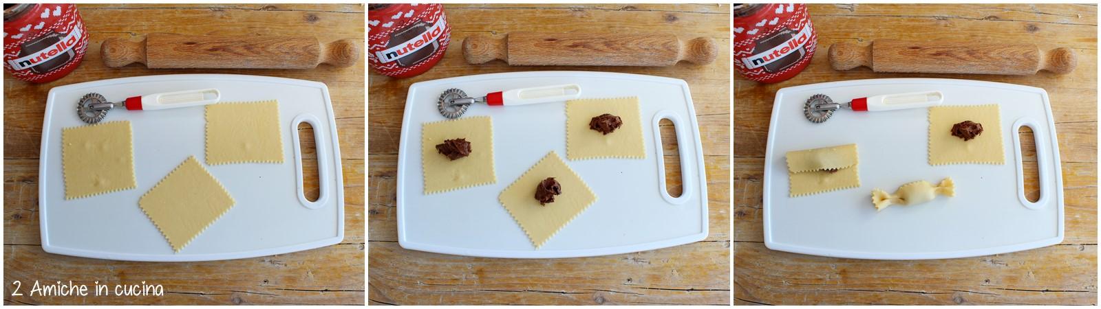 Come preparare le caramella alla Nutella fritte