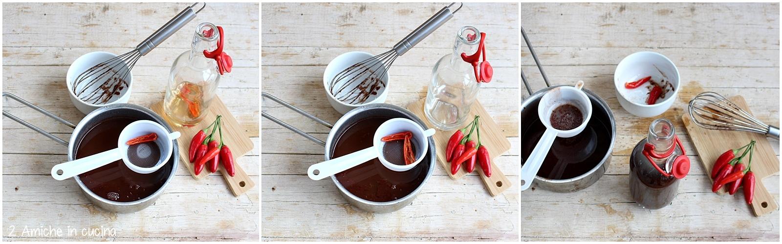 Come filtrare l'alcool al peperoncino e unirlo al cioccolato