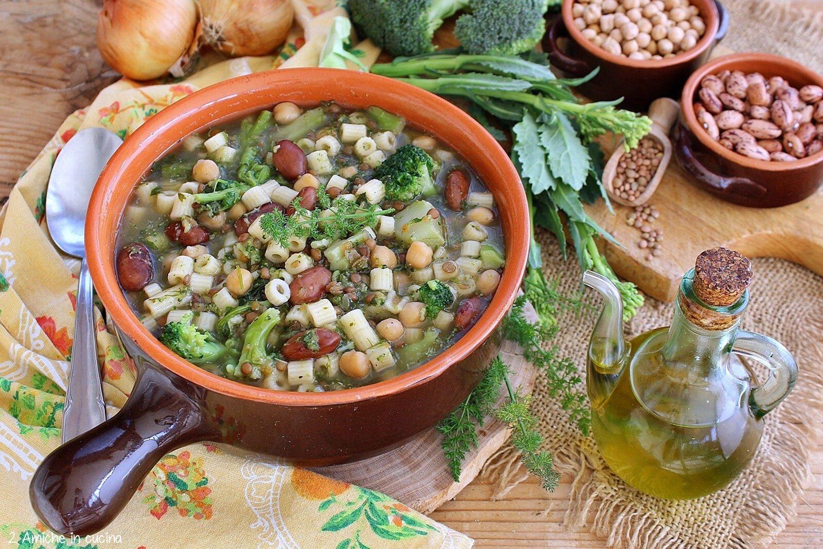 Minestra di san Giuseppe, ricetta siciliana con verdure e legumi
