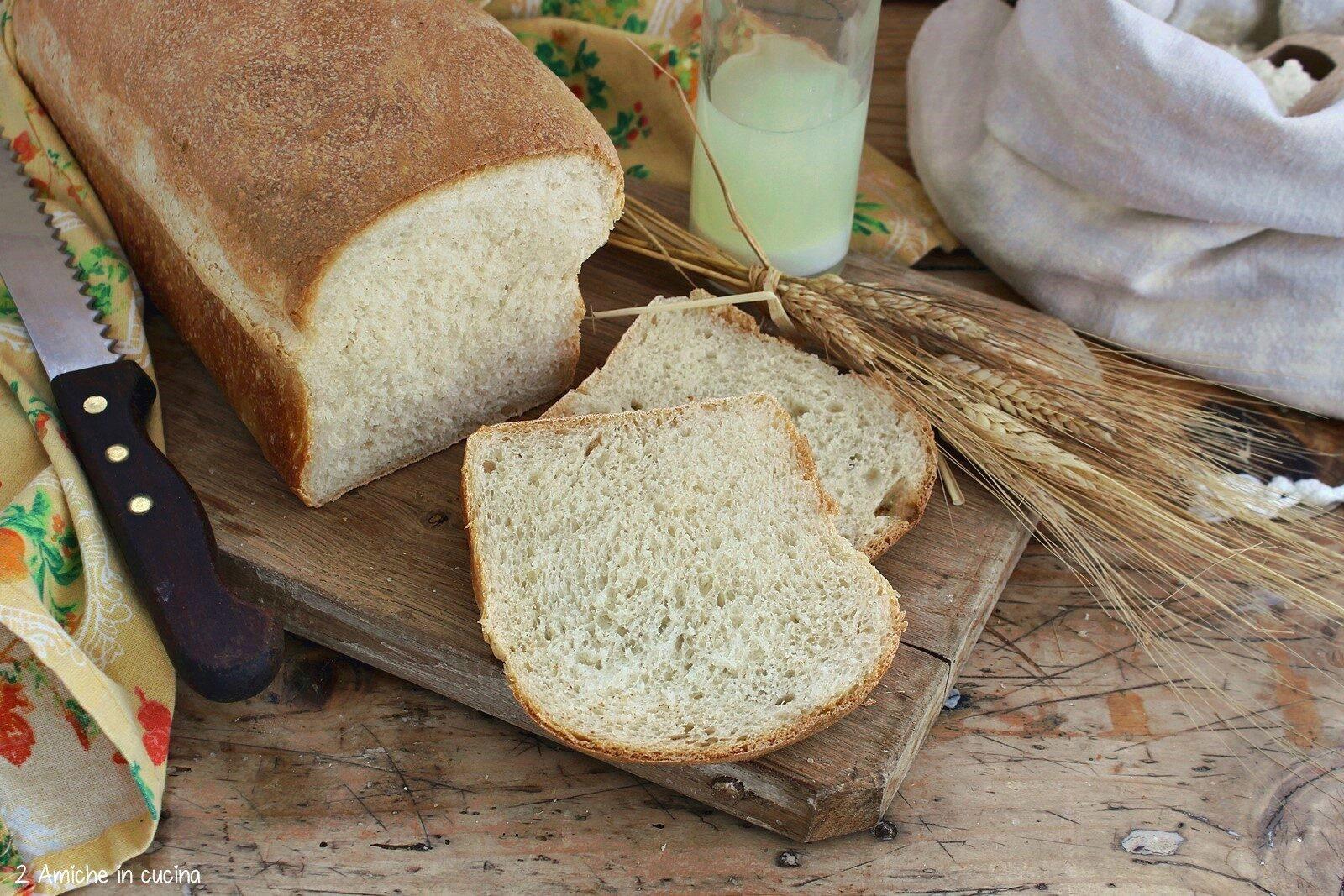 pane morbido cotto nello stampo del plumcake