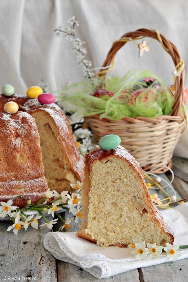 Interno sofficissimo della babka polacca di Pasqua