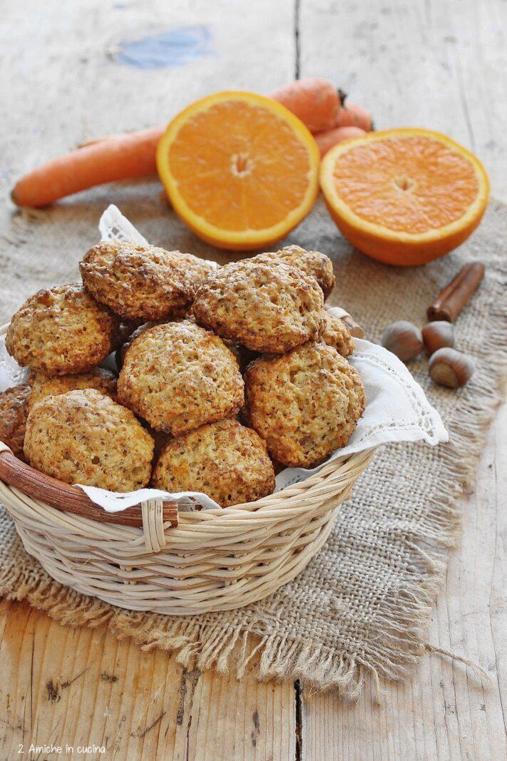 biscottisena lattosio con le carote
