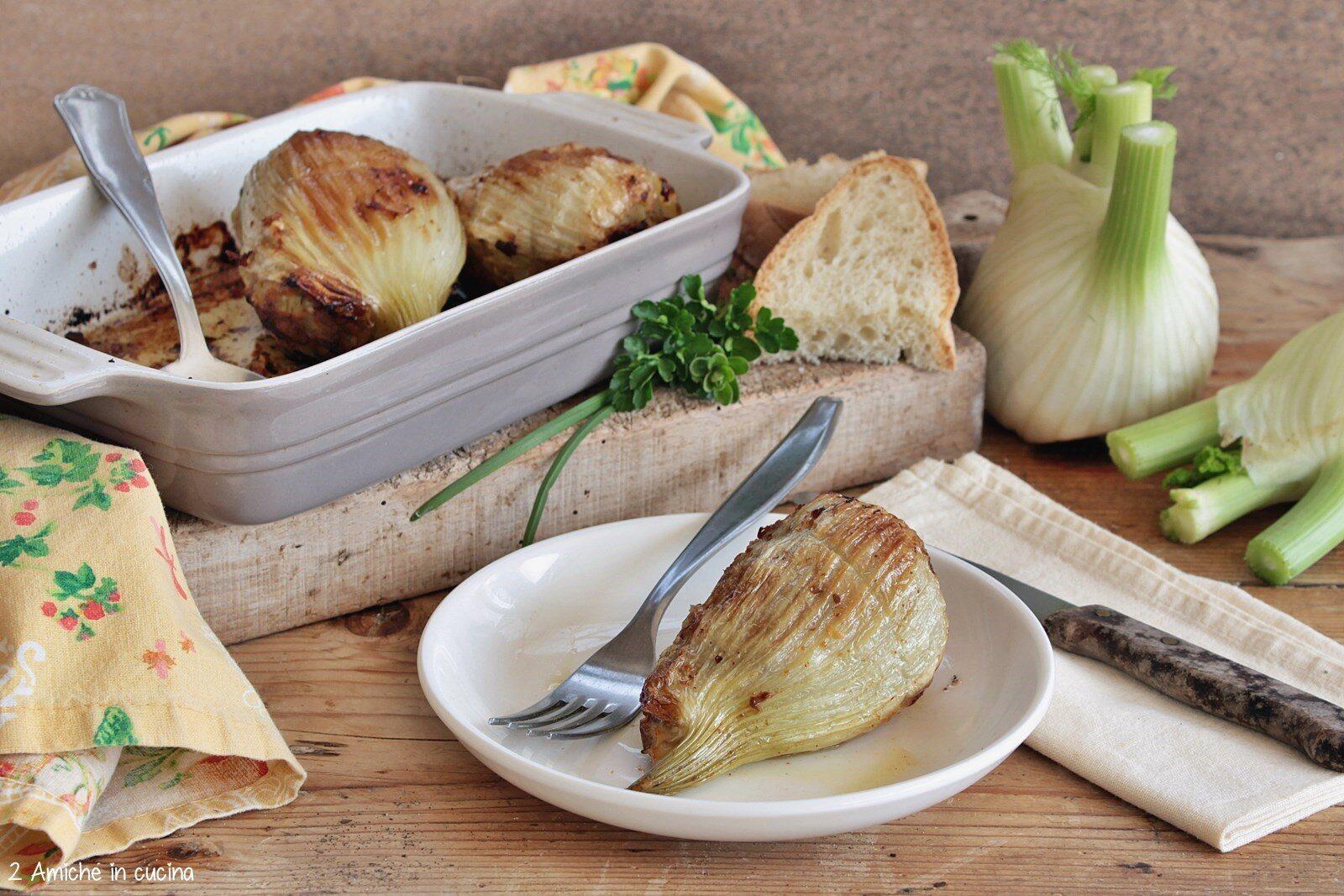 Foglie  esterne di finocchio riempite di carne e pane raffermo
