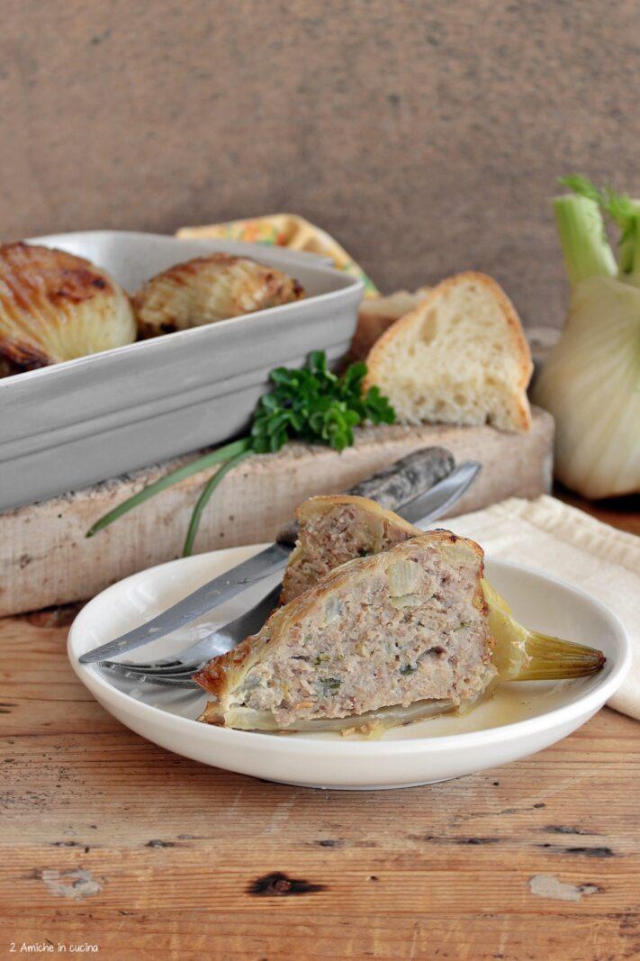 Ripieno dei finocchi, con carne e pane raffermo