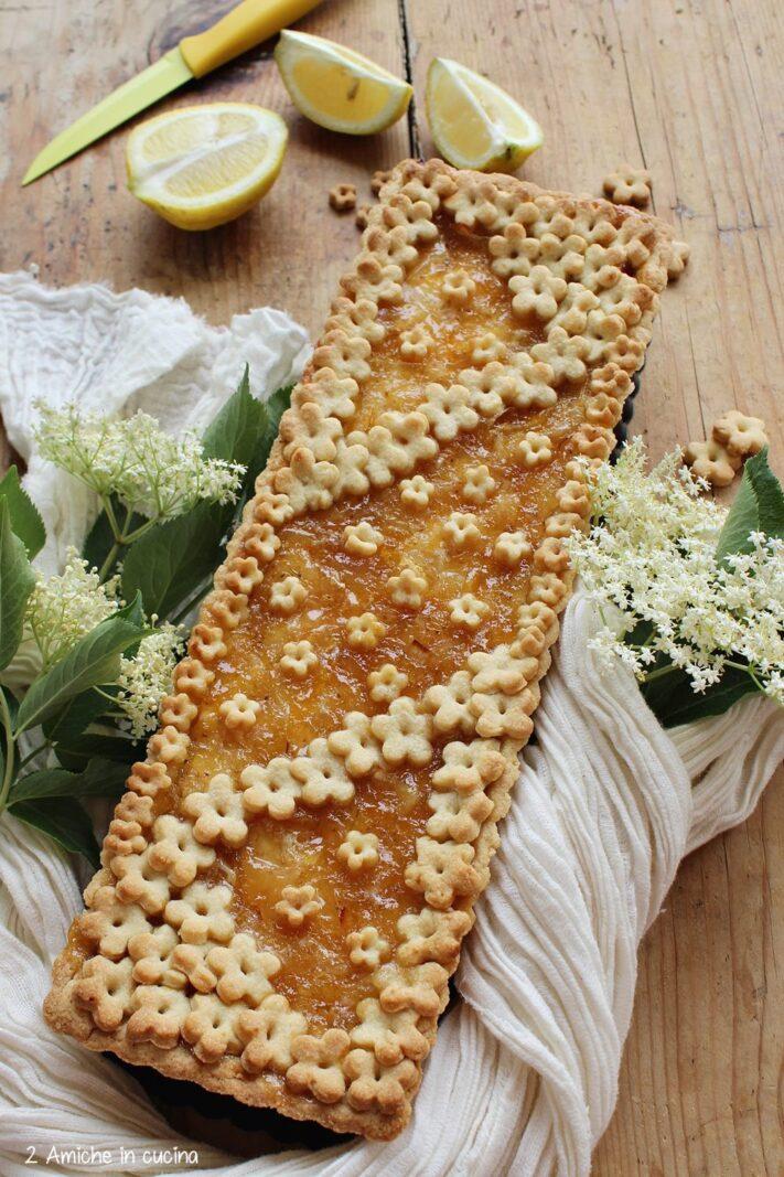 Frolla con ricotta e marmellata al sambuco