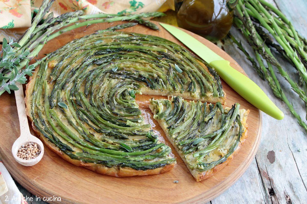farinata di cei con asparagi selvatici