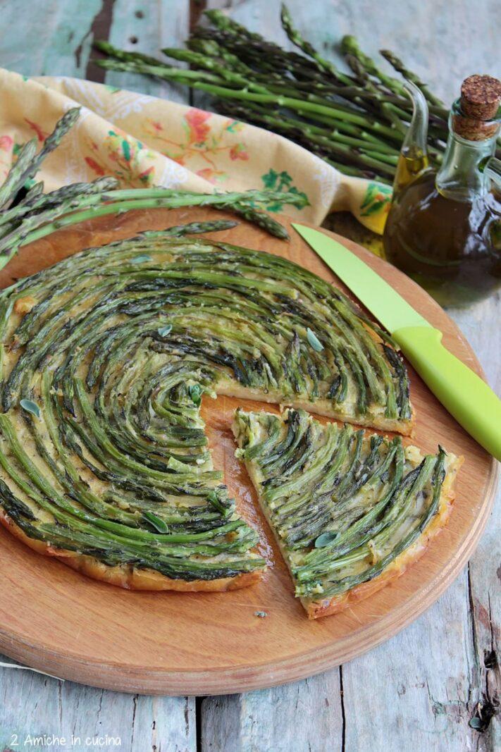 torta di farina di ceci e verdure di primavera