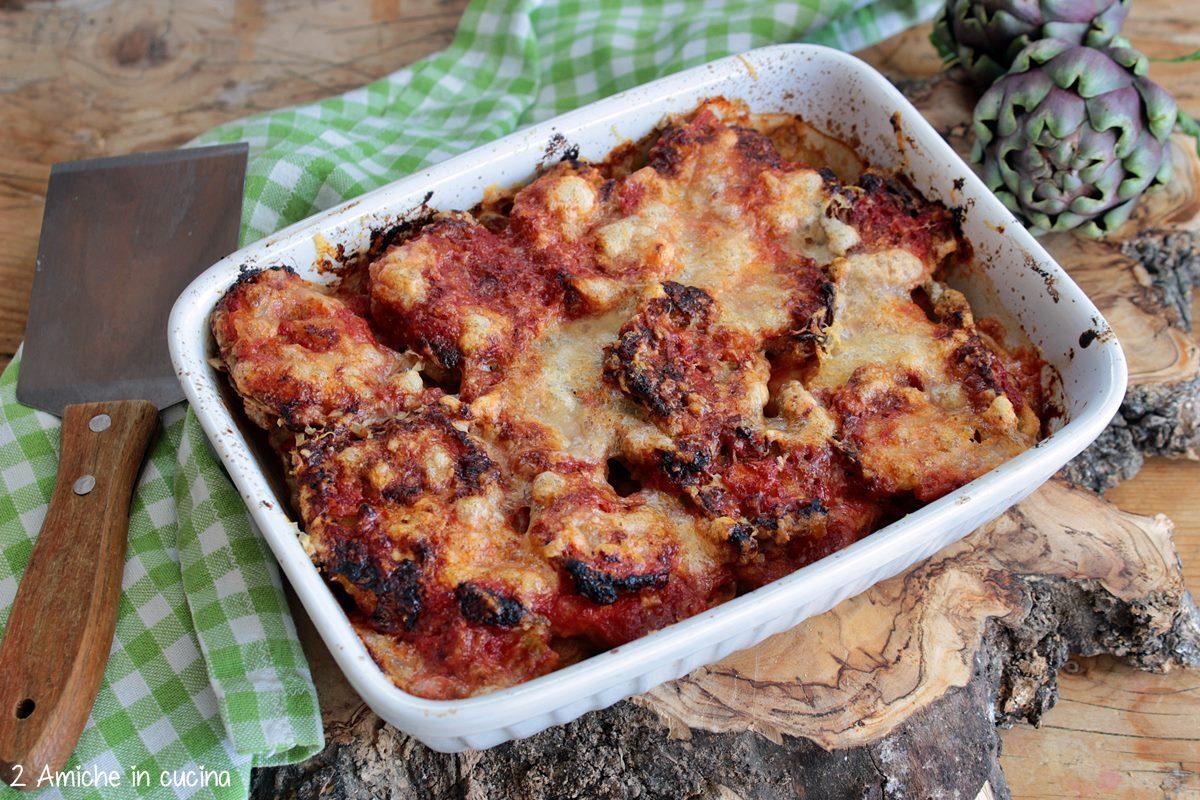 Carciofi fritti e cotti alla parmigiana