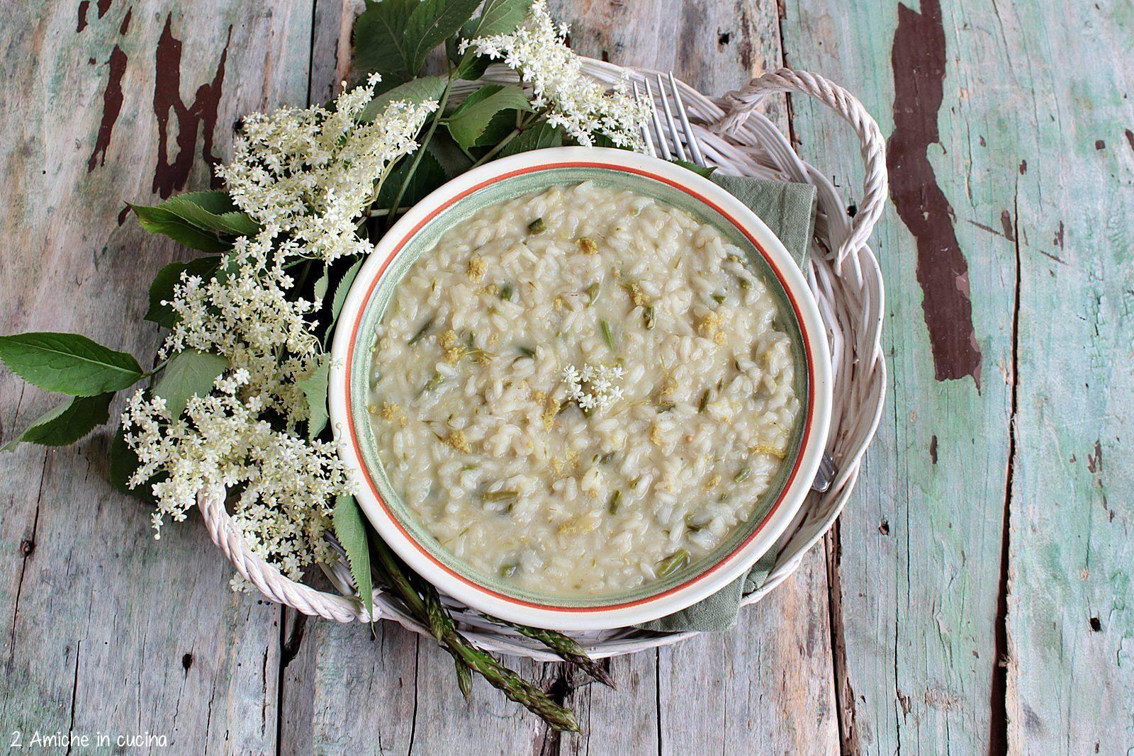 Risotto al brodo di fiori di sambuco
