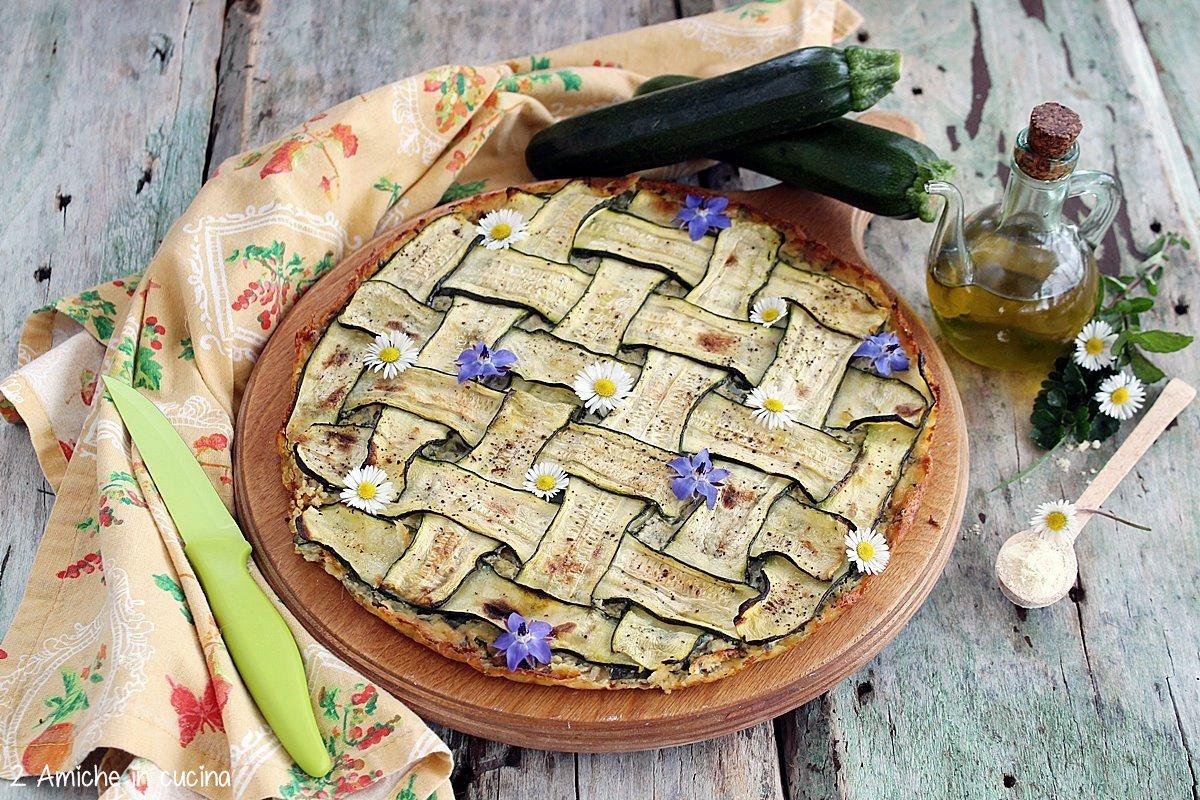 farinata di ceci con zucchine intrecciate