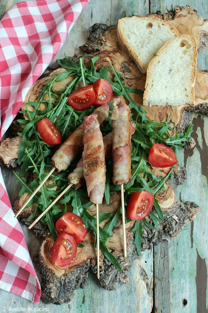 Finger food di carne e pancetta