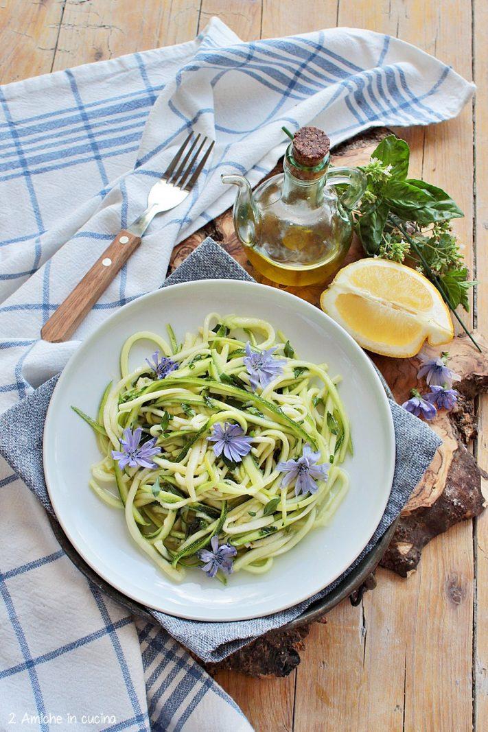 spaghetti di zucchine crude, contorno ligth