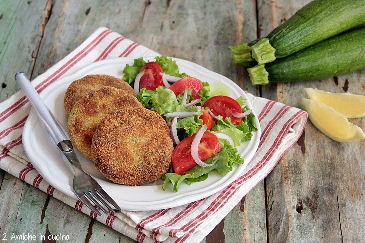 burger di zucchine e merluzzo con erbe aromatiche, ricetta senza lattosio