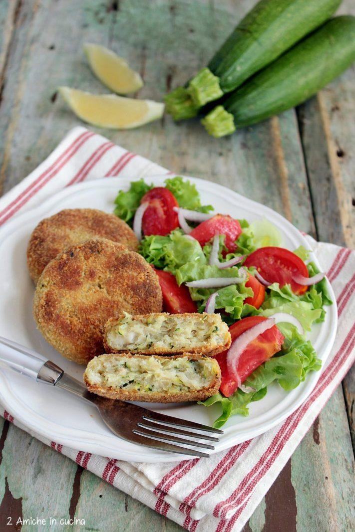 Polpette di merluzzo e zucchine al forno