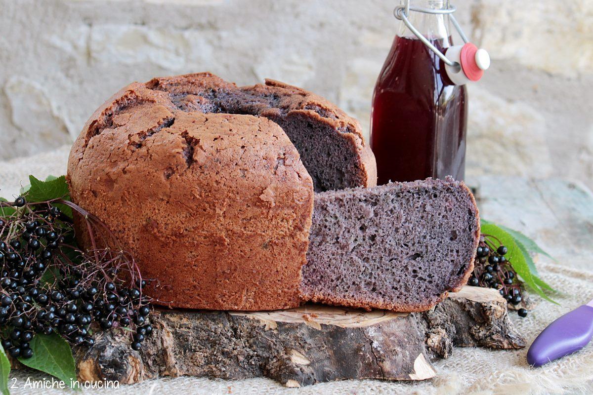 Chiffon cake sofficissima con succo di bacche di sambuco