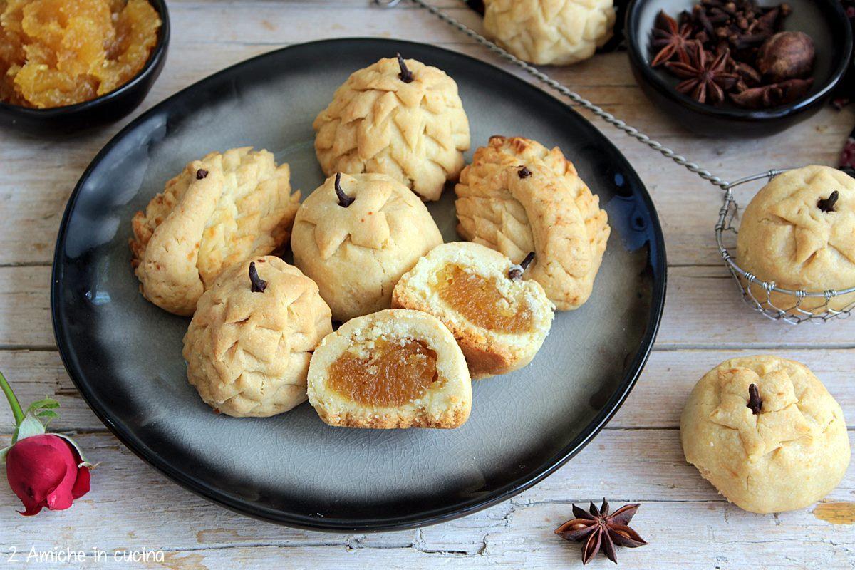 Interno dei biscotto all'ananas di Singapore