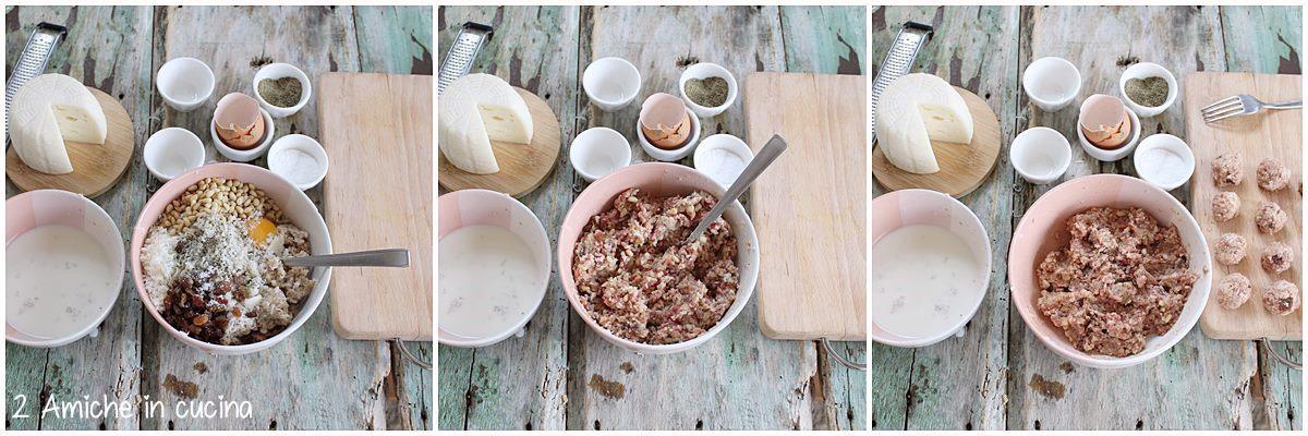 Come preparare le polpette pinoli e uvetta